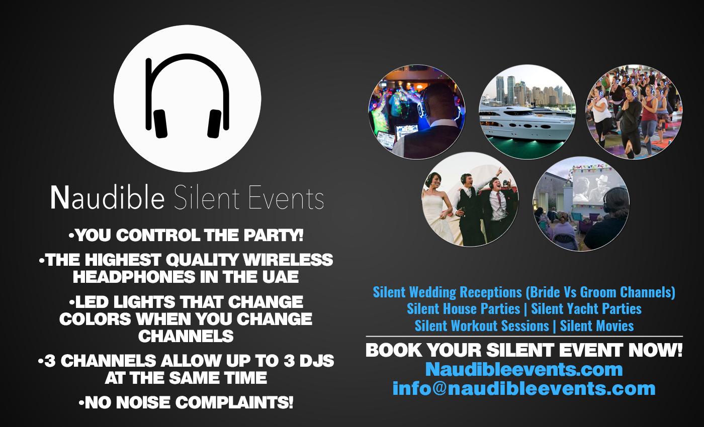 naudible silent events web page copy